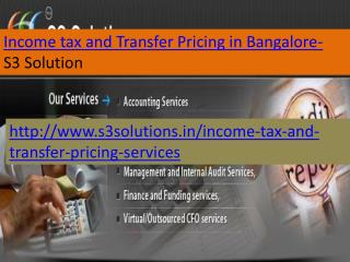 Income tax and transfer pricing services in Bangalore