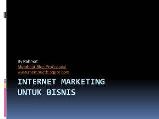 Aplikasi Internet Marketing Untuk Bisnis