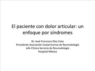 El paciente con dolor articular: un enfoque por s ndromes