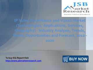 JSB Market Research: IP Video Surveillance and VSaaS Market