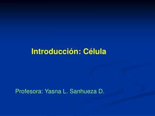 Introducci n: C lula