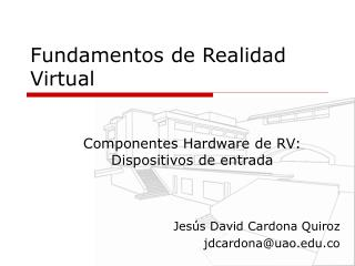 Fundamentos de Realidad Virtual