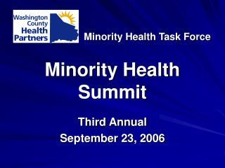 Minority Health Summit