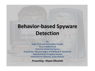 Behavior-based Spyware Detection