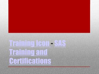 SAS Online Training - Trainingicon