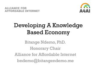 Developing A Knowledge Based Economy