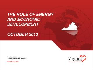 The Role of Energy and Economic development october  2013