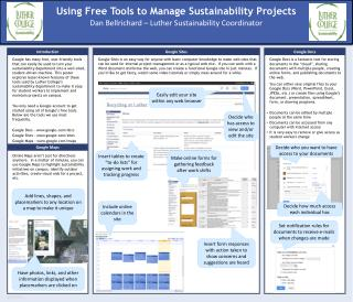 Using Free Tools to Manage Sustainability Projects