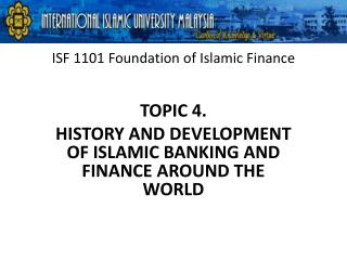 ISF 1101 Foundation of Islamic Finance