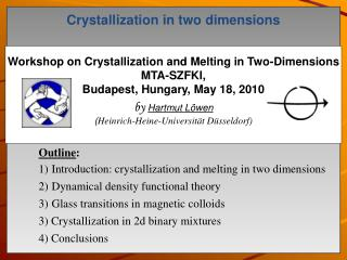 Crystallization in two dimensions