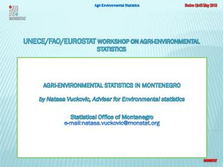 UNECE/FAO/Eurostat WORKSHOP ON  AGRI-ENVIRONMENTAL  STATISTICS