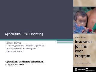 Agricultural Risk Financing