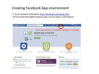 Creating  Facebook  App environment