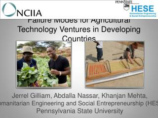 Failure Modes for Agricultural Technology Ventures in Developing Countries