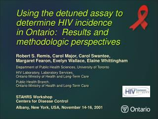 Using the detunedassay to determine HIV incidence
