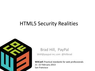 HTML5 Security Realities