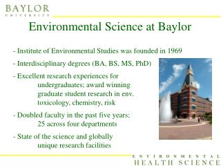 Environmental Science at Baylor