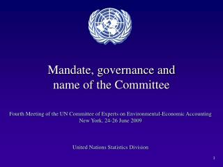 Mandate, governance and  name of the Committee