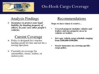 Insurance to protect your legal liability for hauling property of others, in your case other people's vehicles. Current