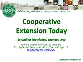 Cooperative Extension Today