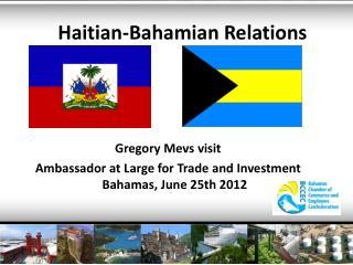 Haitian-Bahamian Relations
