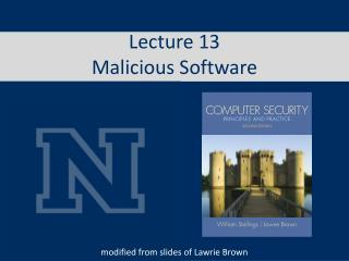 Lecture 13 Malicious Software