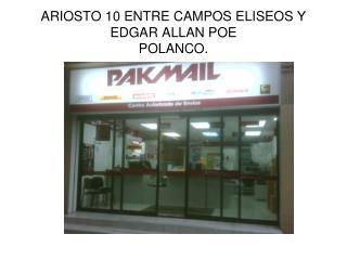 ARIOSTO 10 ENTRE CAMPOS ELISEOS Y EDGAR ALLAN POE POLANCO.