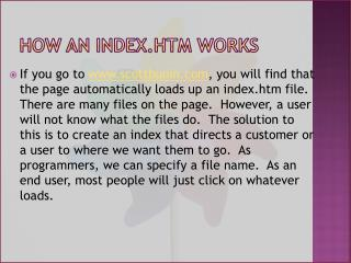 How an Index.htm works