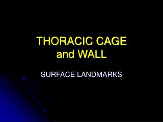 THORACIC CAGE and WALL