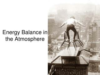 Energy Balance in the Atmosphere