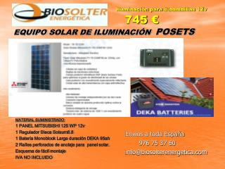 EQUIPO SOLAR DE ILUMINACIÓN   POSETS