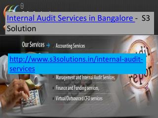 Internal Audit Services in Bangalore- S3 Solution