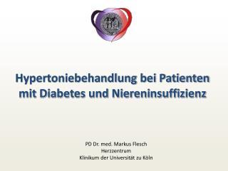 Hypertoniebehandlung bei Patienten mit Diabetes und Niereninsuffizienz