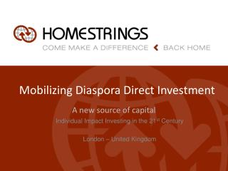 Mobilizing Diaspora Direct Investment