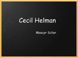 Cecil Helman