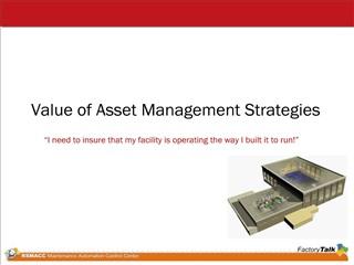 Value of Asset Management Strategies