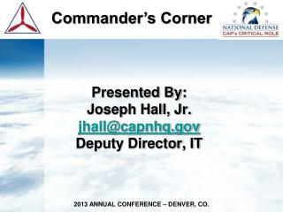 Commander's Corner