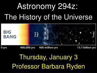 Astronomy 294z: