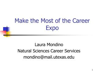 Make the Most of the Career Expo
