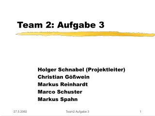 Team 2: Aufgabe 3