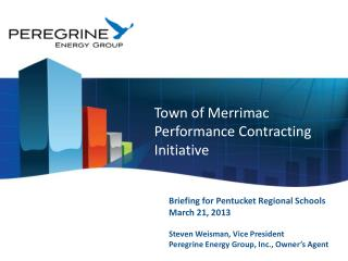 Town of Merrimac Performance Contracting Initiative