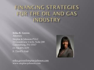 F inancing strategies for  the  oil and gas  industry