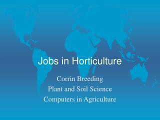Jobs in Horticulture