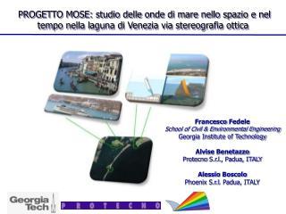 PROGETTO MOSE: studio  delle onde di  mare  nello spazio  e  nel  tempo  nella laguna di Venezia  via  stereografia ot