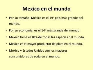 Mexico en el mundo