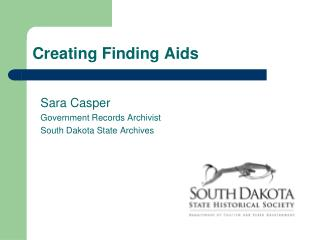 Creating Finding Aids