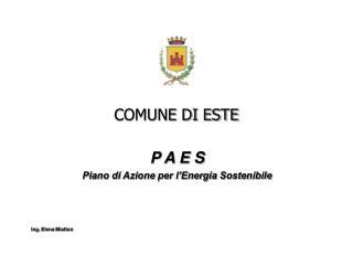 COMUNE DI ESTE