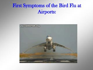 First Symptoms of the Bird Flu at Airports:
