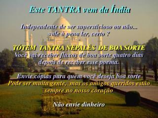 Este TANTRA vem da Índia
