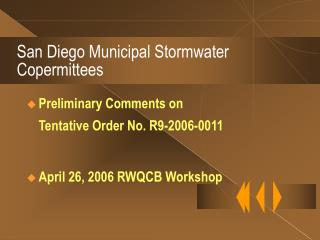 San Diego Municipal Stormwater Copermittees
